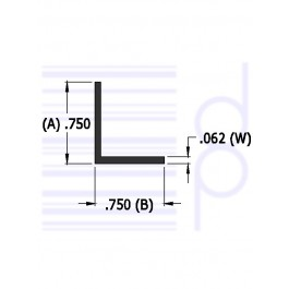 3/4 IN. x 3/4 IN. Right Angle (19.050 mm)