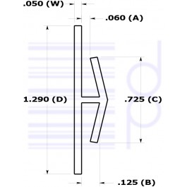 1/16 IN. H-Channel (1.587 mm)