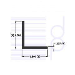 1-1/2 IN. x 1-1/2 IN. Right Angle ( 38.1 mm)