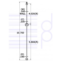 """Two Sided Small Sign Board                                       H=10-3/4"""" x L=12-1/2"""""""