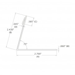 2-1/2 IN. Serrated Easel (63.50 mm)