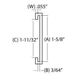 1-5/8 IN. C-Channel (41.2750 mm)