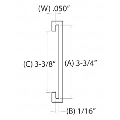 3-3/4 IN. C-Channel (95.2500 mm)