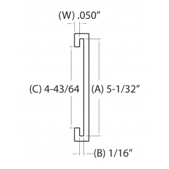 5 IN. C-Channel (127.00 mm)
