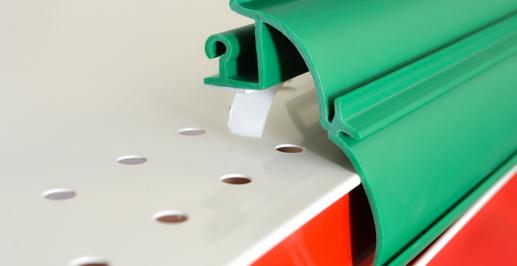 Tape On Shelf Rails